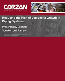 Reducing Risk of Legionella Growth Webinar