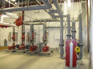 Piping systems for hydronic heating and cooling