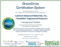 +Vantage Vinyl™ GreenCircle Certified
